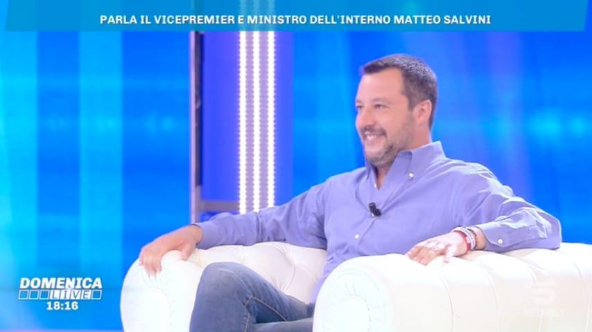 Matteo Salvini a Domenica LiveMatteo Salvini a Domenica Live