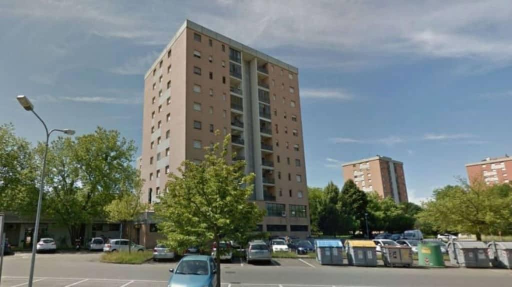 Il palazzo a Modena dove è avvenuta la tragedia