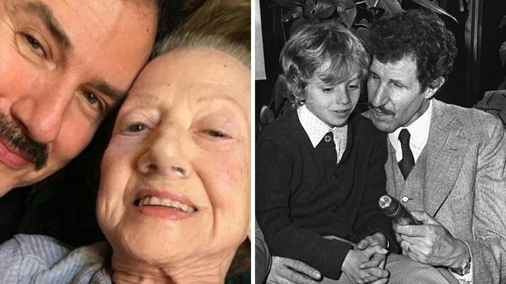 In foto Rosaria Calì, moglie di Ciccio Ingrassia, insieme al figlio Gianpiero