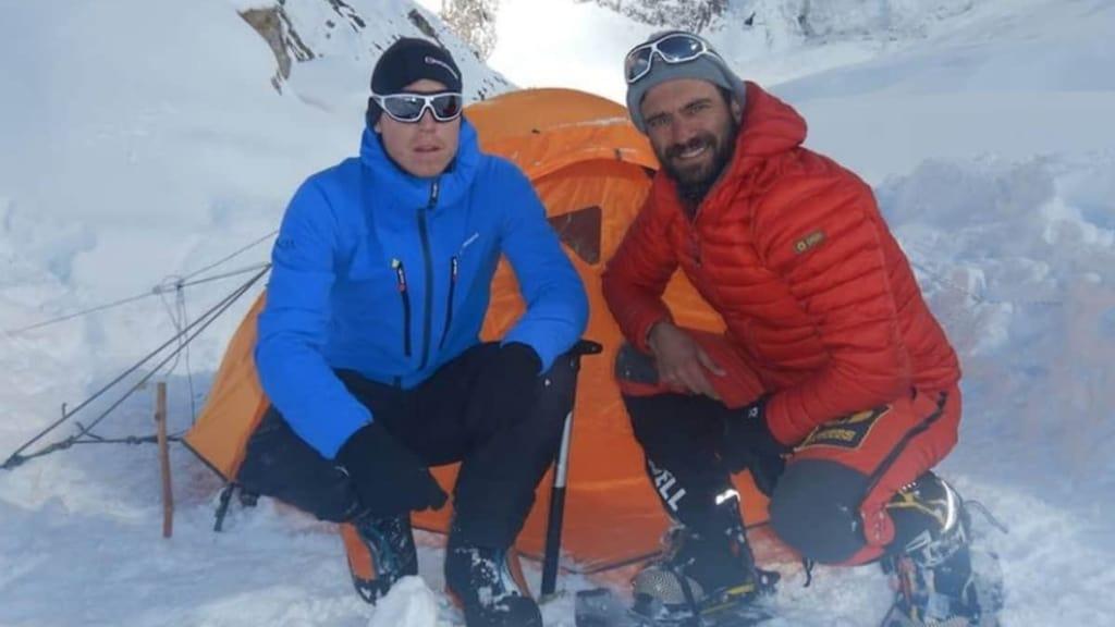 Gli alpinisti Nardi e Ballard