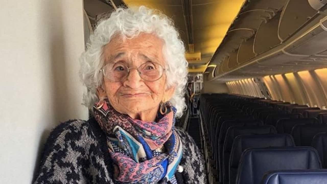 Nemesia Tevex, per la prima volta su un aereo a 106 anni