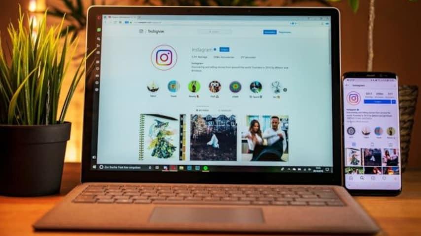 pc e piattaforma di instagram