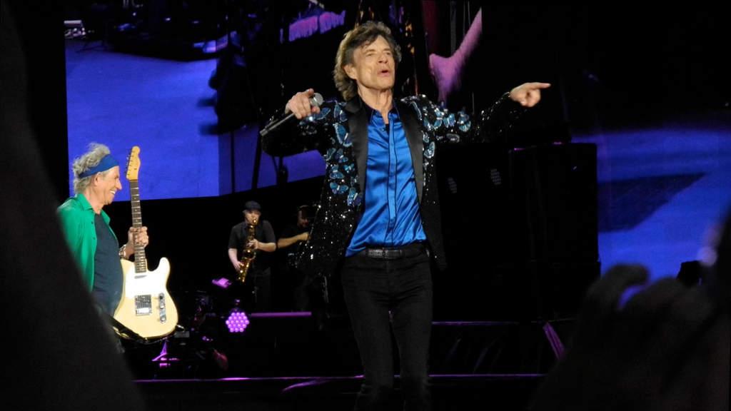 Mick Jagger durante un concerto dei Rolling Stones