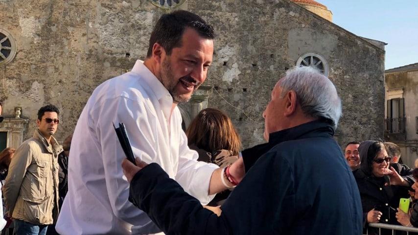 Il ministro Salvini in Basilicata per la campagna elettorale. Foto: Twitter