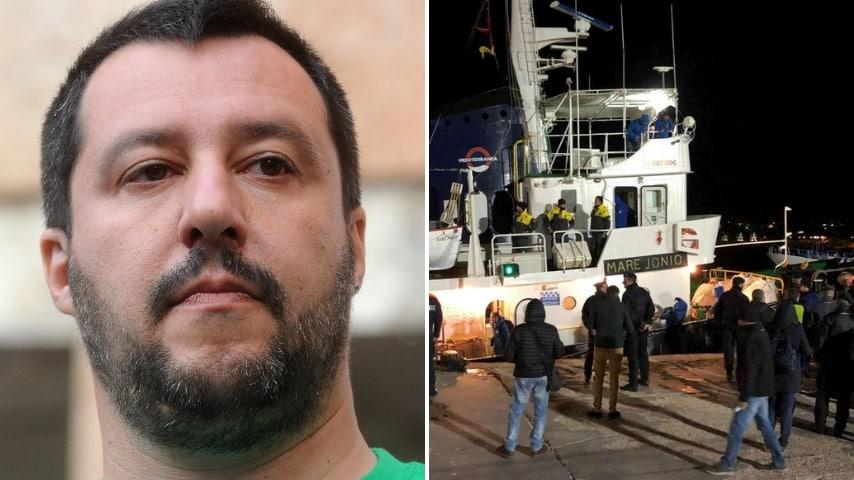 Mare Jonio sbarca a Lampedusa, immediato il sequestro della nave