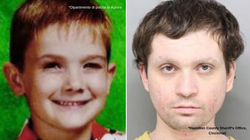 A sinistra Timmothy, a destra Brian, l'impostore che si è finto il bambino scomparso (Foto: Dipartimento di polizia Aurora/Hamilton County Sheriff's Office in Cincinnati, Ohio)