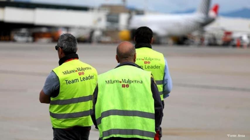 Personale aeroporto di Malpensa (Fonte Ansa)