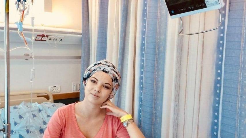 """Anastasia nella clinica di Tel Aviv. Immagine: Sito Gofundme raccolta fondi """"Save Anastasia"""""""
