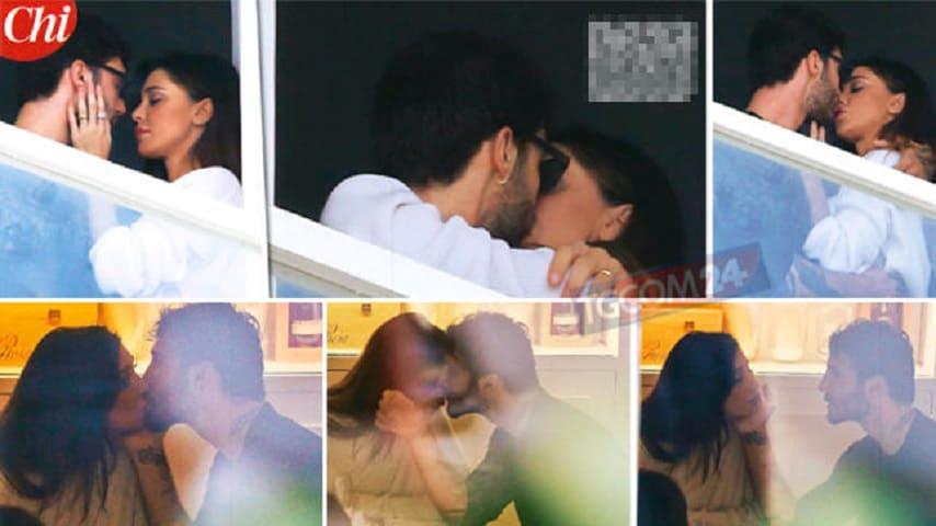 Il bacio sul balcone tra Stefano e Belen