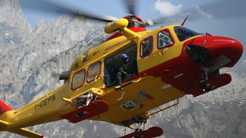 Elicottero del 118. Immagine: Sito Elilombardia
