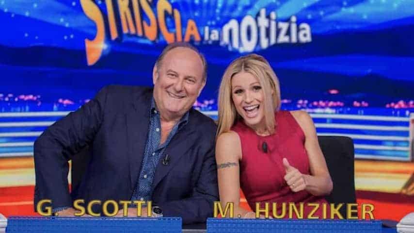Gerry Scotti e Michelle Hunziker tornano a condurre Striscia la Notizia su Canale 5