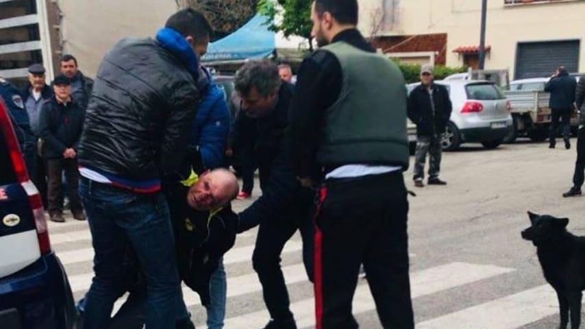Giuseppe Papantuono, l'uomo arrestato per aver sparato ai due carabinieri. Fonte: Raffaele Fitto/Facebook