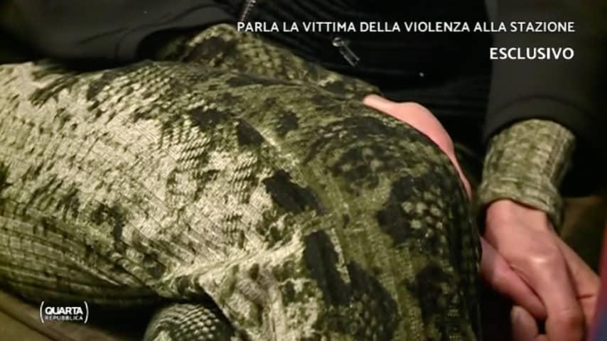 La vittima, molto provata, ha raccontato cosa è successo quel 5 marzo. Immagine: Intervista su Quarta Repubblica Mediaset Play