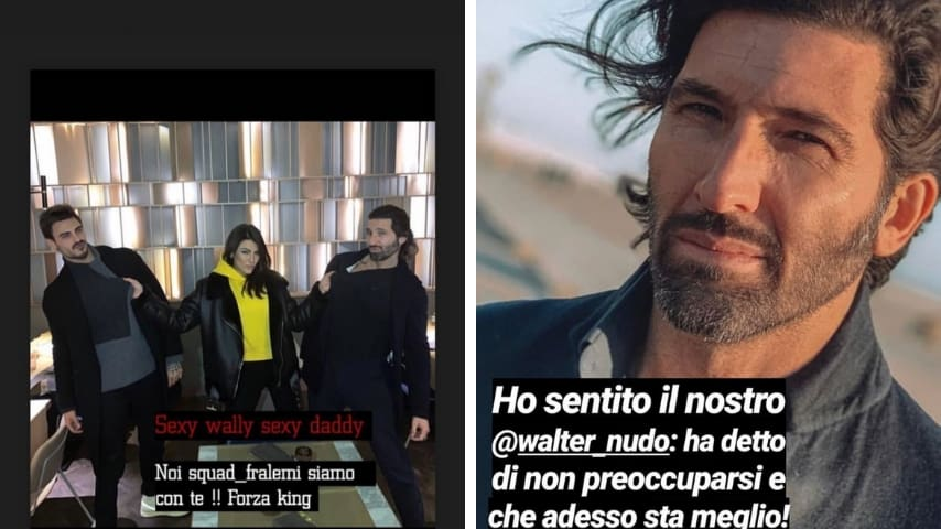 Le stories di Giulia Salemi e Andrea Mainardi. Fonte: Instagram