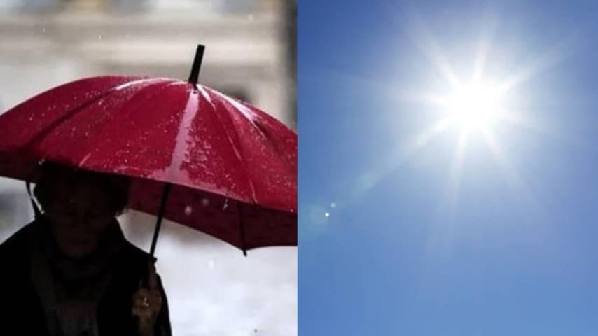 Meteo altalenante tra pioggia e sole (Immagine di repertorio)
