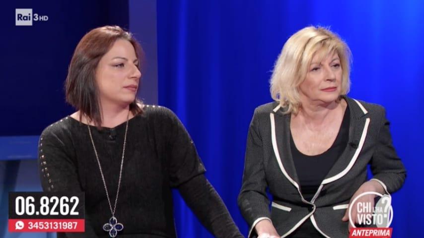 Monia Moscatelli a sinistra e Marina Sacco a destra. Fonte: Chi l'ha visto? Rai Play