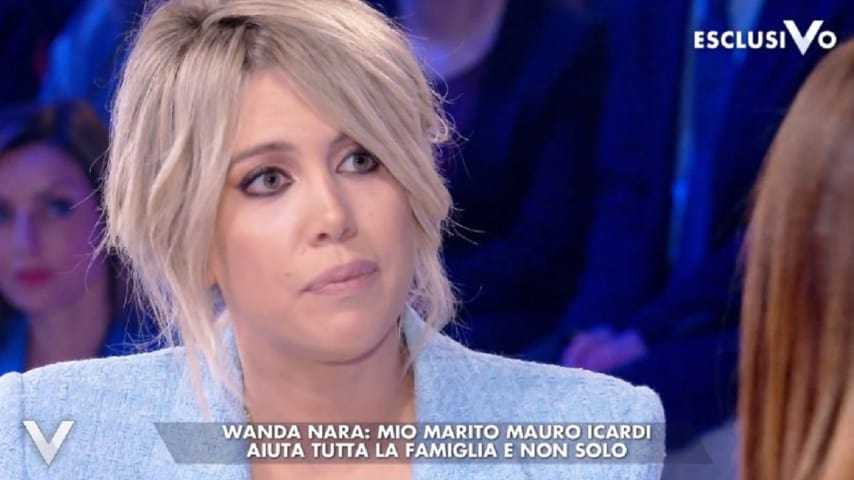Wanda Nara intervistata a Verissimo