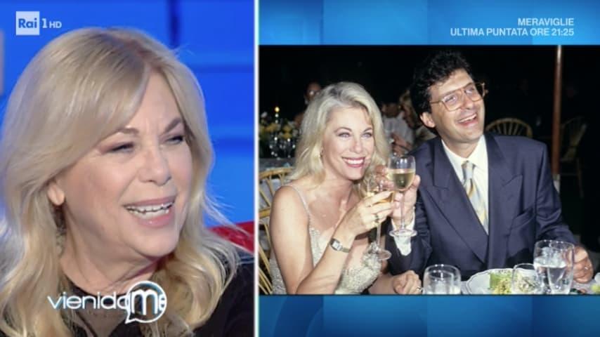 Rita Dalla Chiesa ospite di Caterina Balivo ha parlato anche della storia d'amore con Fabrizio Frizzi. Fonte: Vieni da me Rai Play
