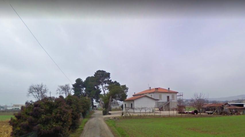 Strada della Foglia, Borgo Santa Maria, frazione di Pesaro. Immagine: Google Maps