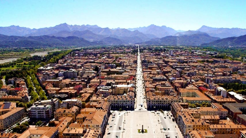 Vista di Cuneo dall'alto. Immagine: Anci Piemonte