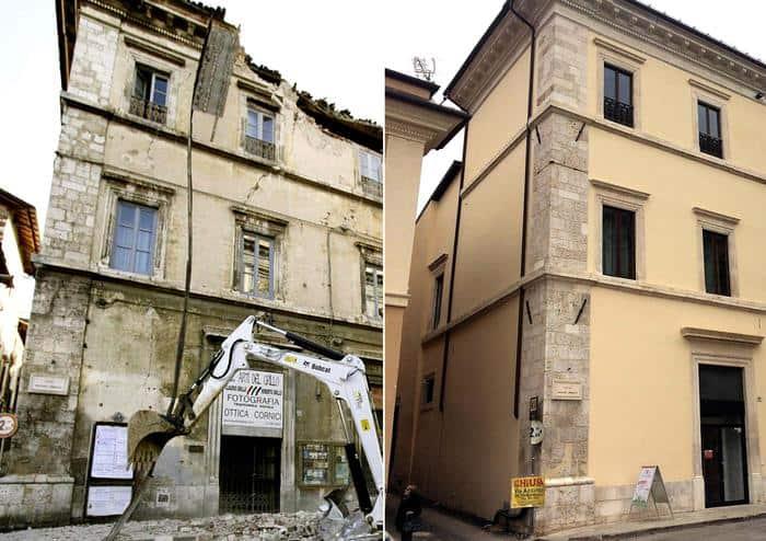 l'aquila, un palazzo prima e dopo