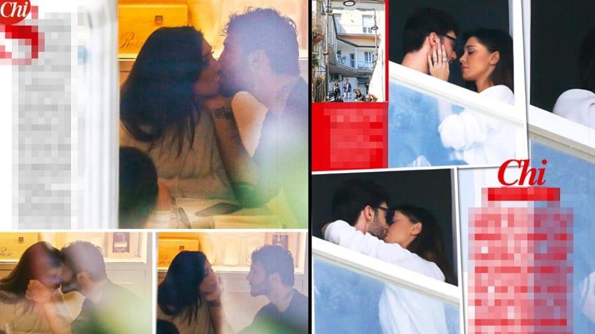 bacio stefano belen a napoli