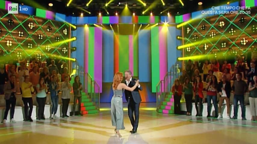 L'esibizione di Alessandra Tripoli e Cesare Bocci a Domenica In