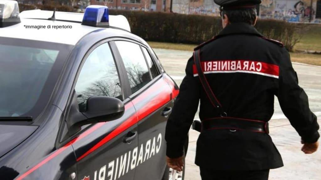 carabinieri e una volante vicino