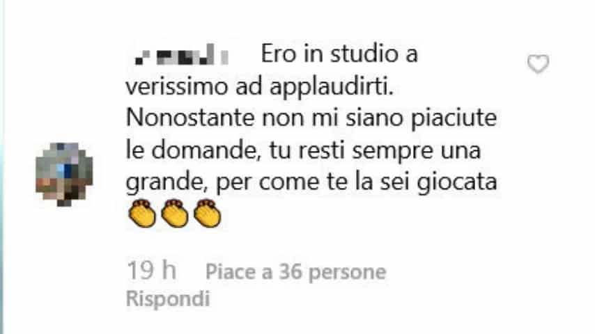 Commento al post di Marina La Rosa