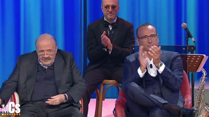 Carlo Conti e Maurizio Costanzo