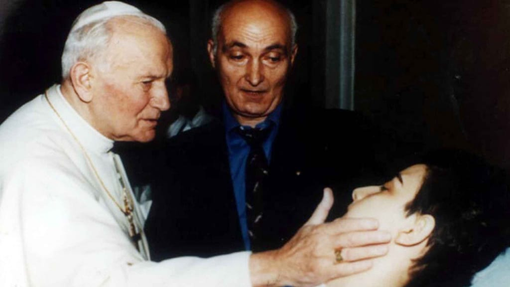 cristina magrini a letto incontra papa giovanni paolo II