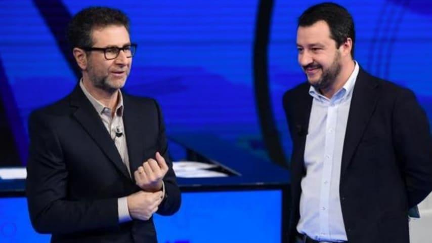 Fabio Fazio e Matteo Salvini a Che Tempo Che Fa