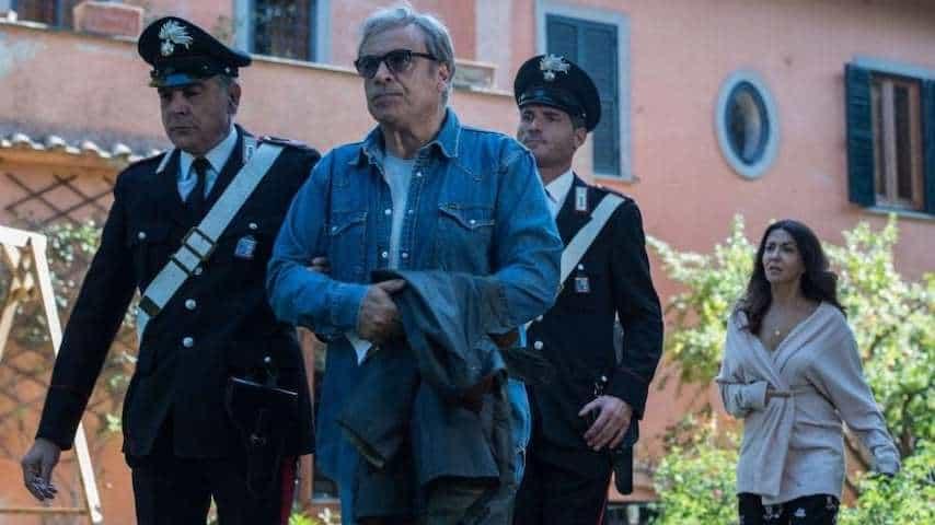 """Scena della fiction """"L'Amore Strappato"""" in onda su Canale 5."""