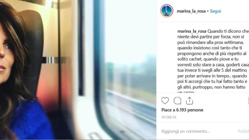 Post di Marina La Rosa su Verissimo