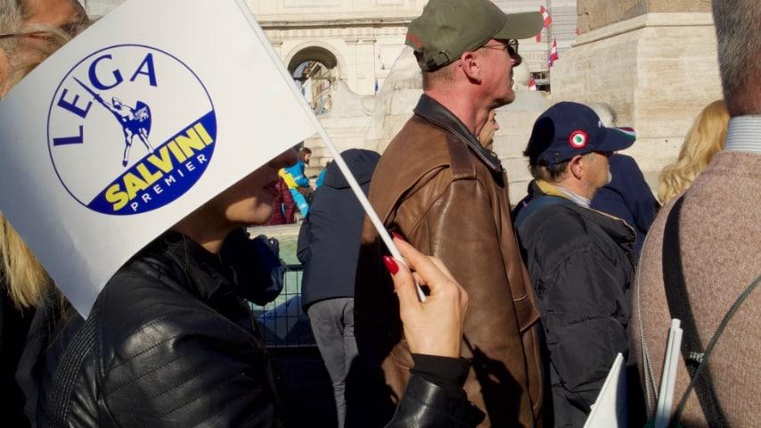 Lega per Salvini a Piazza del Popolo, Roma