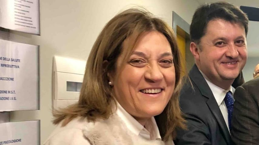 La presidente Catiuscia Marini e l'assessore Luca Barberini
