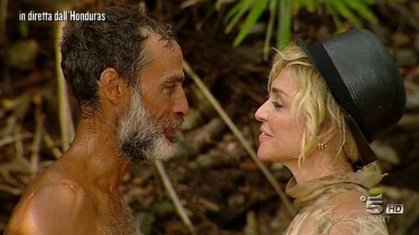 Raz Degan e Paola Barale a L'Isola dei Famosi