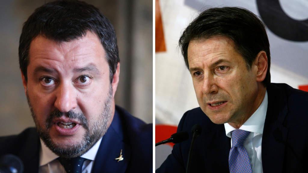 Giuseppe Conte contro Salvini: