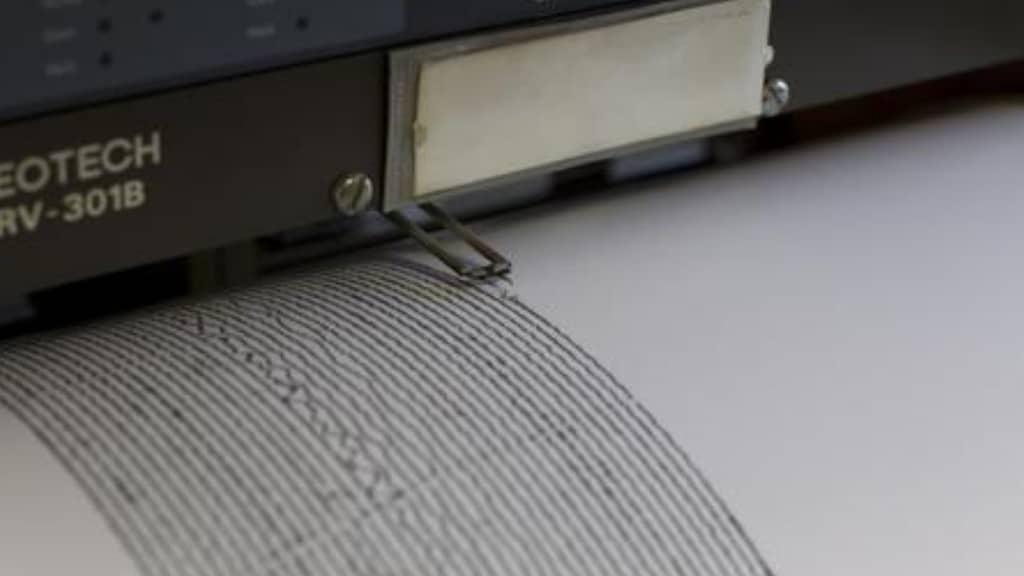 sismografo che registra onde sismiche