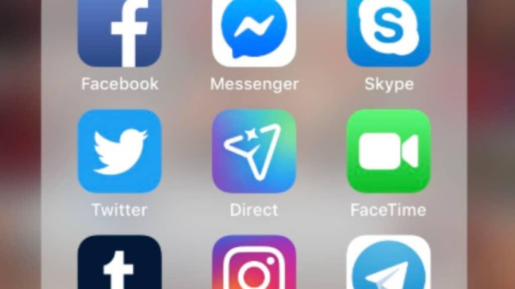 schermata di cellulare con social network