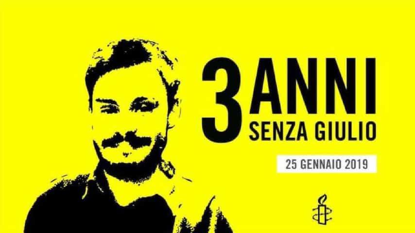 3 anni senza Giulio, la campagna di Amnesty International. Immagine: Sito Amnesty International