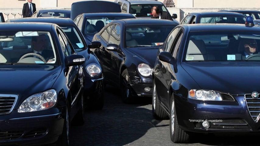 Auto blu. Immagine di repertorio