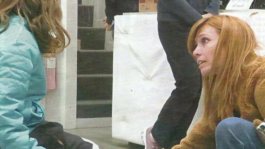 Carlotta Mantovan a passeggio con la figlia