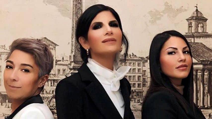 Da sinistra a destra: Pamela Perricciolo, Pamela Prati e Eliana Michelazzo. Immagine: Eliana Michelazzo/Instagram