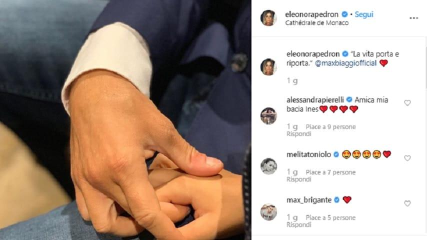 Eleonora Pedron instagram a Max Biaggi