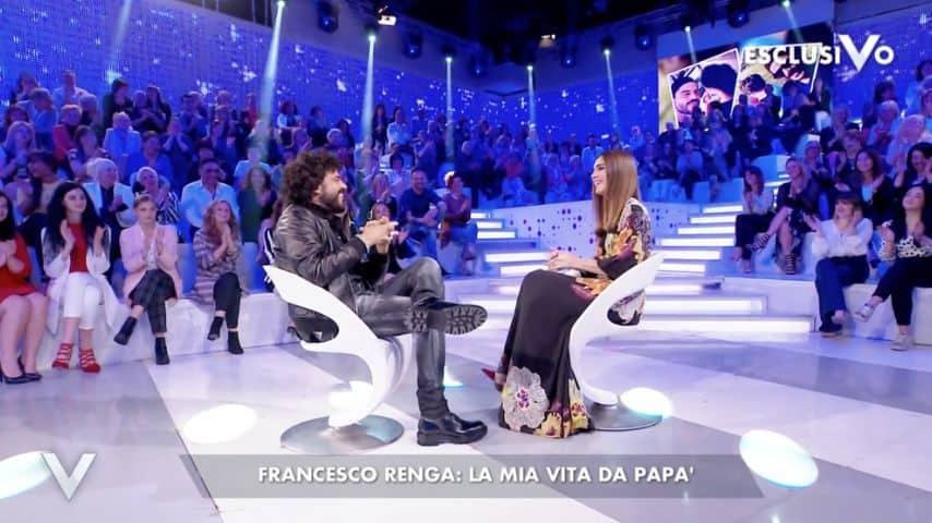 Francesco Renga e il rapporto con i figli Jolanda e Leonardo. Immagine: Puntata Verissimo