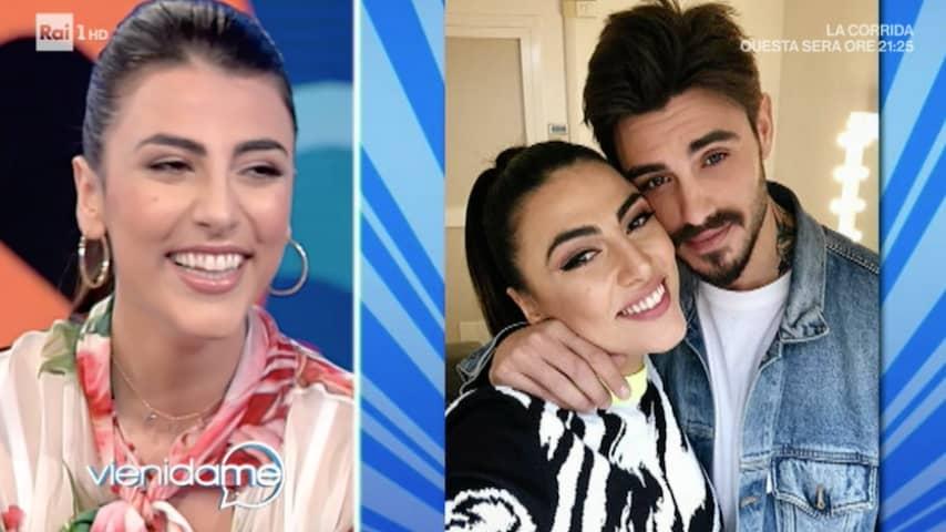 Giulia Salemi ospite di Caterina Balivo. Fonte: Frame della puntata del 26 aprile 2019 di Vieni da me