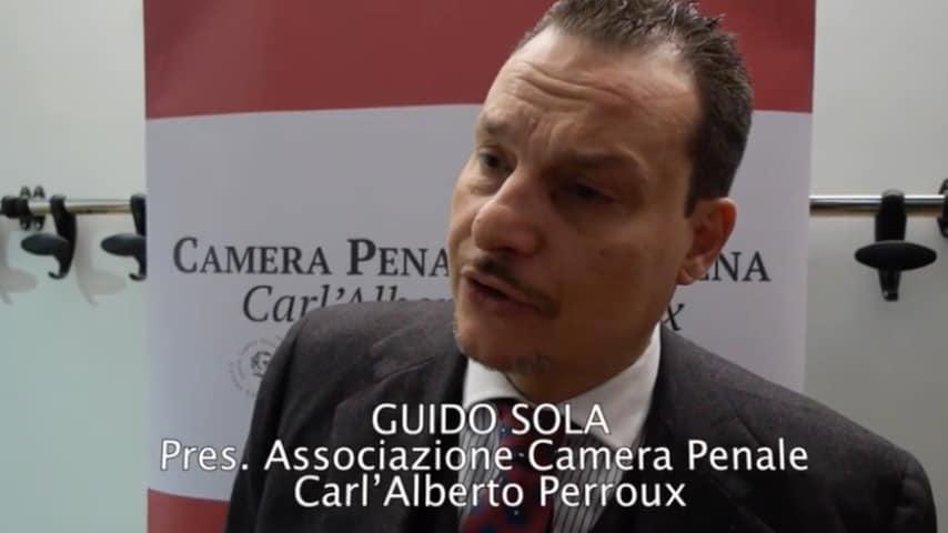 Guido Sola, presidente della Camera penale di Modena. Immagine:  Camera Penale di Modena Carl'Alberto Perroux/Youtube