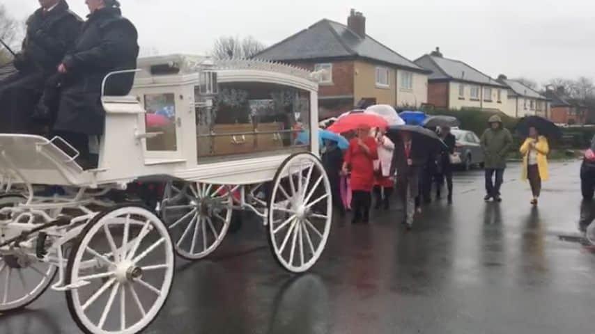 Il funerale di Rosie Darbyshire. Immagine: Blog Preston Video/Facebook