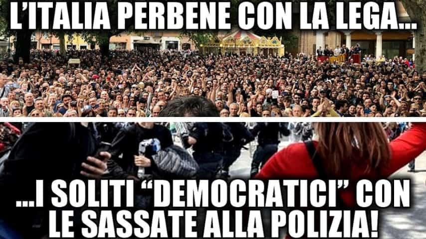 Il post di Matteo Salvini sugli scontri avvenuti a Modena. Fonte: Matteo Salvini/Facebook